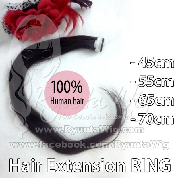 harga 65cm hair extension human hair / rambut sambung asli ring Tokopedia.com