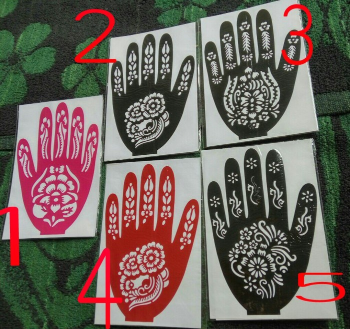 Jual Stiker Henna Tangan Stiker Pacar Hennna Untuk Tangan Murah