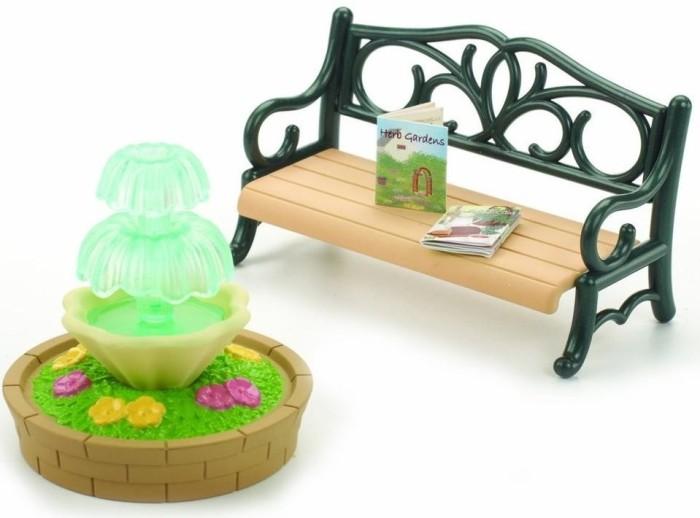 harga Sylvanian families original 4535 - bench & fountain Tokopedia.com