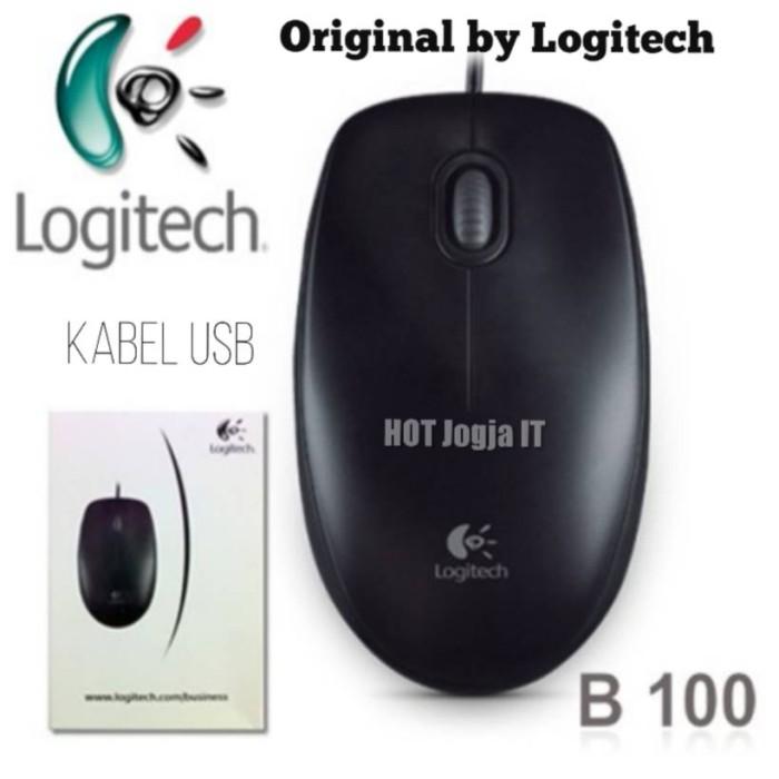 Mouse kabel usb logitech b-100 original by logitech