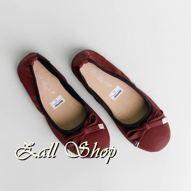 Flat Shoes Flatshoes Sepatu Flat Gratica BD09PU Maroon Flat Shoes Fla