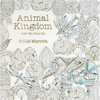 Buku Mewarnai Coloring Book For Adults Animal Kingdom