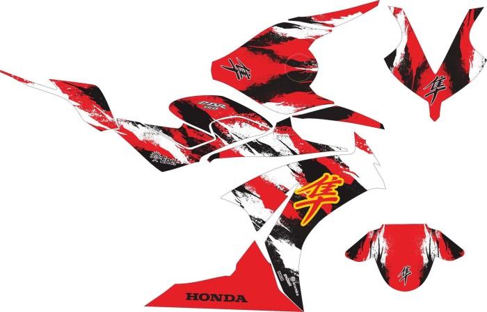 Jual Modif Stiker Honda Cbr 150 R Hayabusa Kota Surabaya Striping Motor Tokopedia