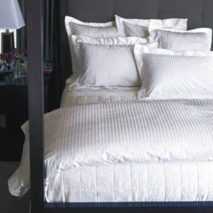 ALONA ELLENOV PUTIH GARIS SPREI WITH BED COVER KATUN PUTIH. Ellenov Sprei Katun Prada Putih garis Extra King Super (200 x 200 x 30