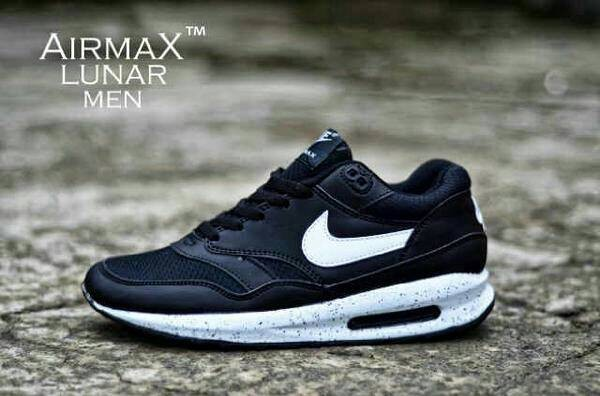 Sepatu nike lunar one oreo hitam putih keren murah sekolah kuliah ce6dd6d749