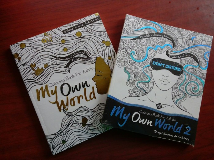 Paket My Own World 1 2 3 Dan Travel Size Coloring Book For Adults