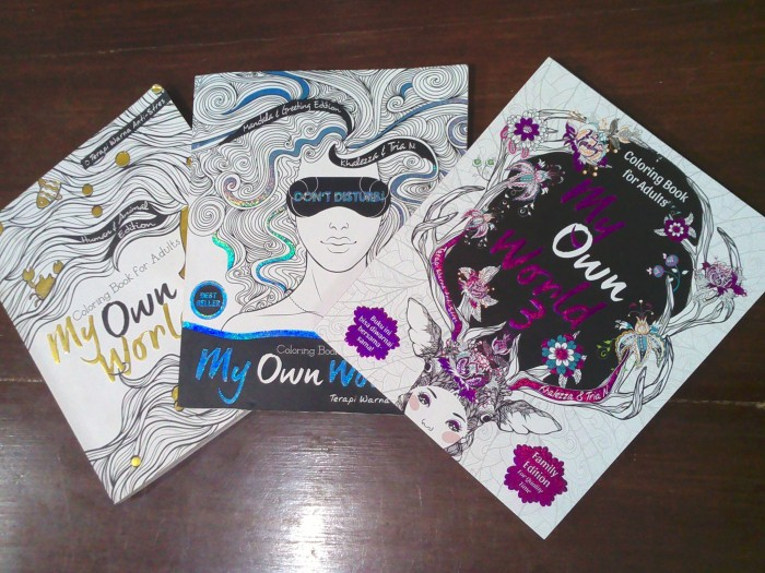 Paket My Own World 1 2 Dan 3 Coloring Book For Adults