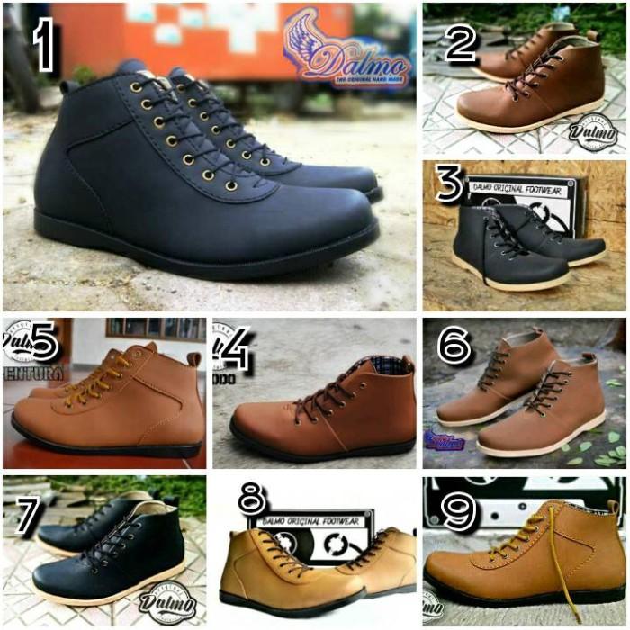 Jual Sepatu brodo Dalmo shoes kulit sintetis banyak model - Cokelat ... e2a69b41ef