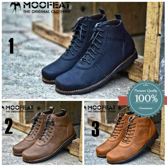 Jual Sepatu Boots Pria Kulit Premium Moofeat Original - iamstore ... 9e793531a7