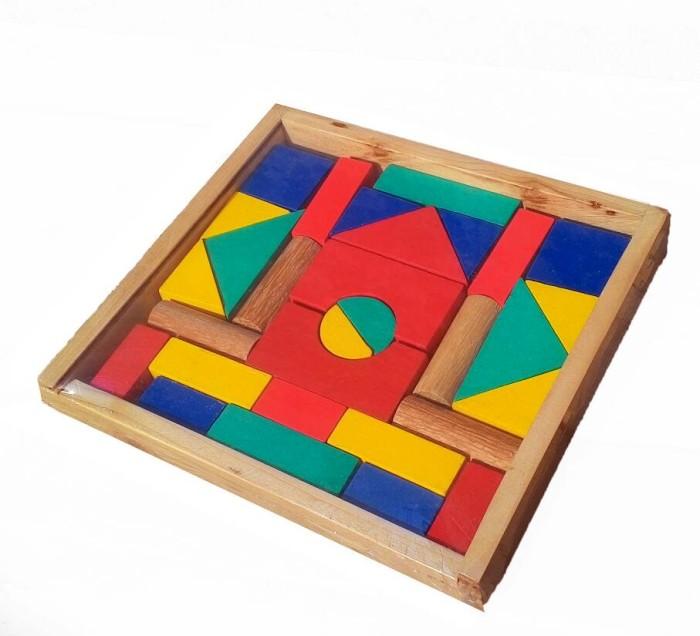 Foto Produk A48 city blok, balok bangun mainan edukatif edukasi kayu anak murah dari Edukasi Toys