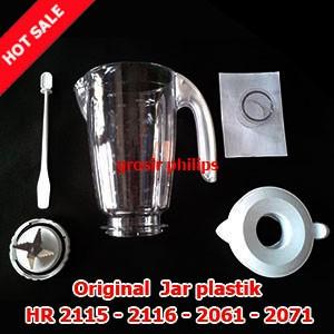 Gelas blender philips plastik hr 2115 - 2116 - 2061 - 2071 (komplit)