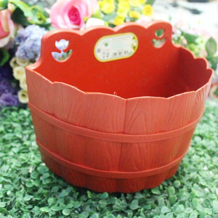 harga Pot vas bunga plastik gantung motif kayu / hanging hanger vas flower Tokopedia.com