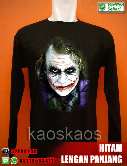 harga Kaos the dark knight purple joker lengan panjang Tokopedia.com