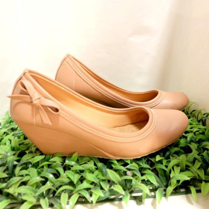 Jual Sepatu sandal cewek model Wedges Wanita Elsb SR03 kulit ... 0f5610ef9f