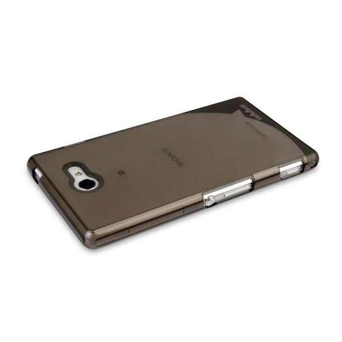Ahha Soft Case Sony Xperia M2 Aqua Clear-Black,Moya Gummishell .