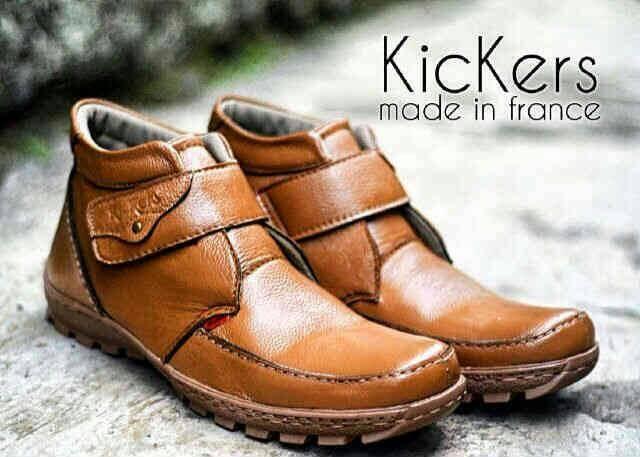 harga Sepatu boots kerja kickers prepet tan kulit Tokopedia.com