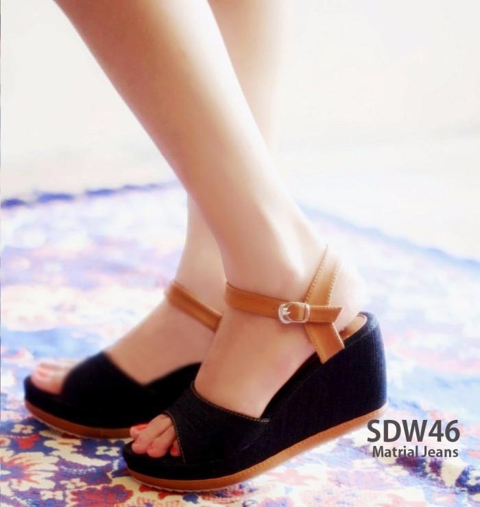 harga Wedges wanita / sandal sepatu wedges jeans Tokopedia.com