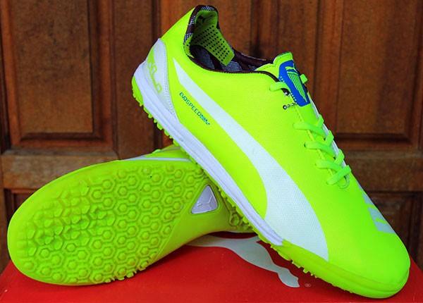 Sepatu Futsal Puma evoSPEED Kuning Stabilo Grade Ori Murah terbaru