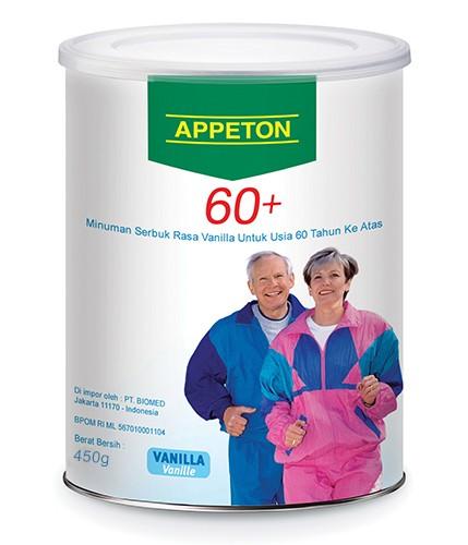 Appeton 60+ 450gr vanilla (susu orang tua 40 tahun keatas)