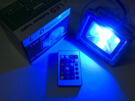 Jual Lampu Sorot Tembak LED RGB 20w Warna Warni