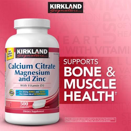 harga Kirkland signature calcium citrate magnesium zinc 500mg - 500 tablets Tokopedia.com