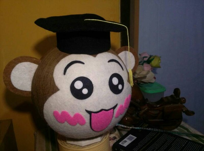 harga Lampion benang   lampu tidur karakter baby milo wisuda toga Tokopedia.com