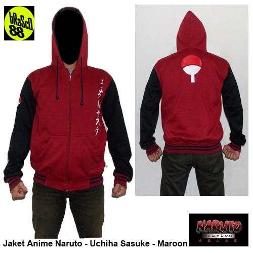 harga Jaket anime naruto - uchiha sasuke - maroon Tokopedia.com