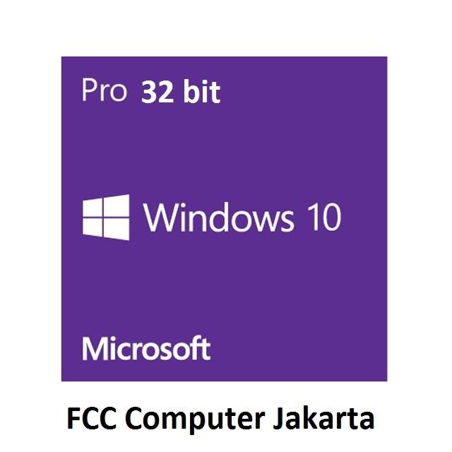 harga Microsoft windows 10 professional 32bit original software dvd Tokopedia.com