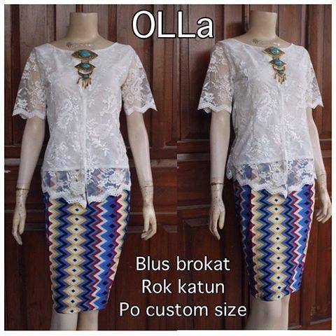Jual Kebaya batik Ola wanita modern terbaru dengan motif Rang rang ... da83a7464c