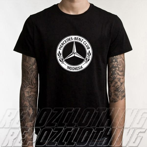 harga Kaos hitam distro otomotif tulisan putih mercedes benz club indonesia Tokopedia.com