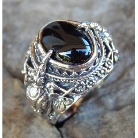 harga Cincin perak motif burung cakrawake batu black onyx Tokopedia.com