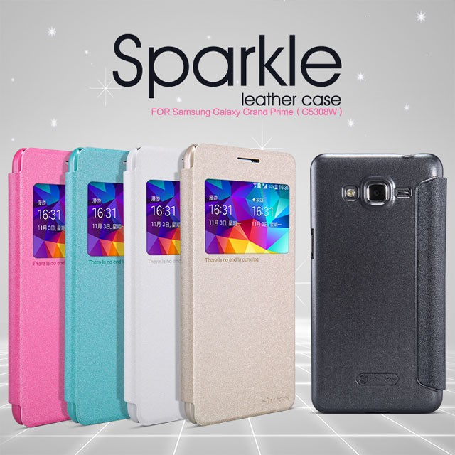 Samsung Galaxy Grand Prime Nillkin Sparkle Leather Flip Case Flipcase