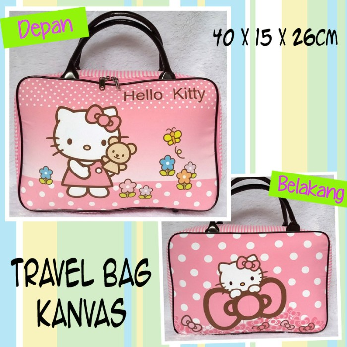 Tas Travel Kanvas Hello Kitty Pita