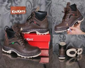 Jual sepatu kickers safety kulit anti bara cek harga di PriceArea.com 1e8663a499