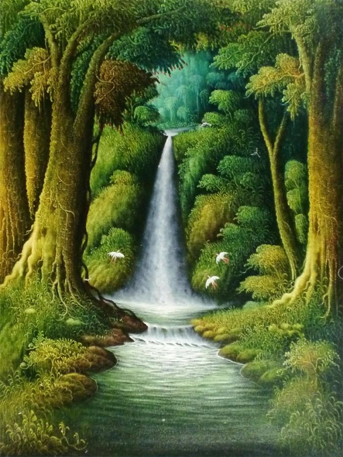 73 Lukisan Naturalisme Pemandangan Air Terjun Gratis Terbaru