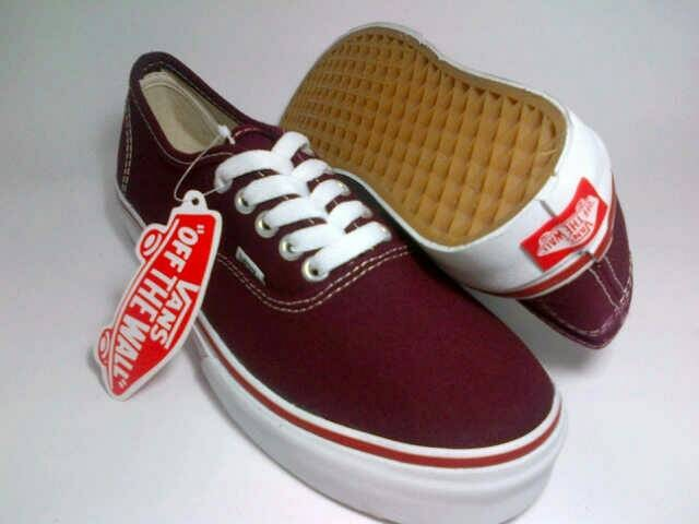 Jual Sepatu Vans Authentic Merah Maroon Box Jakarta Selatan