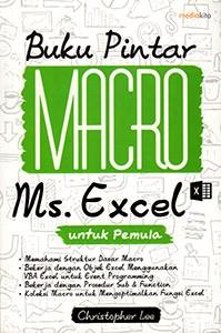 harga Buku pintar macro ms. excel untuk pemula Tokopedia.com
