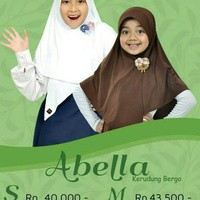 Jual Kerudung Jilbab Bergo Sekolah Anak Elthof Abella M Azas