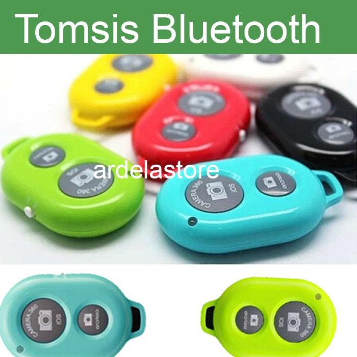 Tomsis bluetooth 4.0 Tombol narsis Rabia Remote Camera Shutter