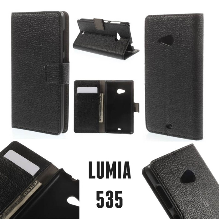 harga Texture wallet leather case microsoft lumia 535 Tokopedia.com