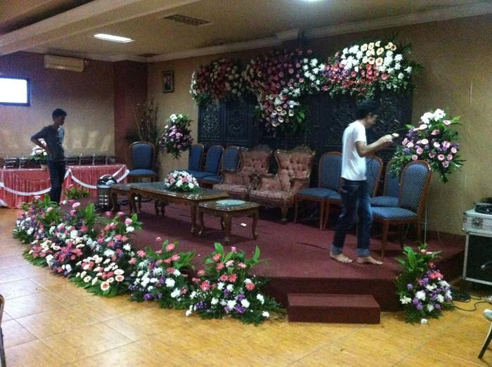 Jual Dekorasi Pelaminan Sederhana Jakarta Timur Spesialis Bunga Papan Tokopedia