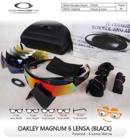 Jual Kacamata SUNGLASS OAKLEY MAGNUM 6 LENSA KW SUPER (Black) - Jual ... 95a2f0666c