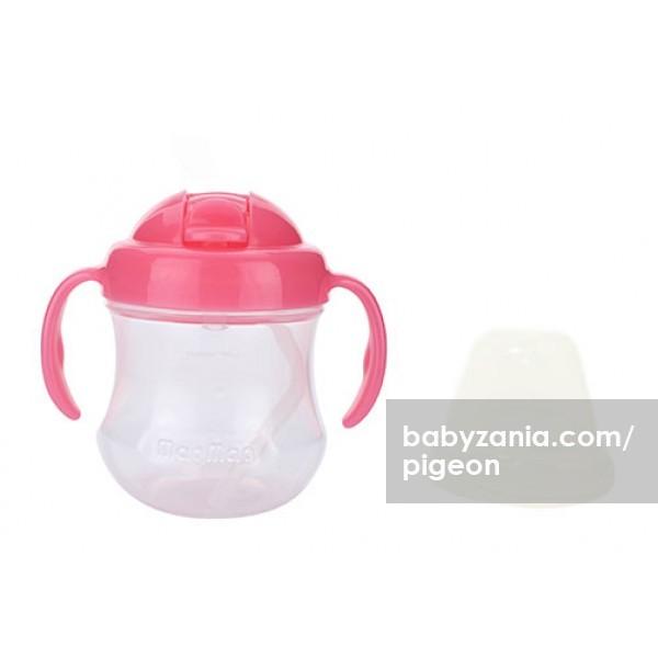 pigeon step 3 mag mag import bpa free straw cup 8m+ - pink