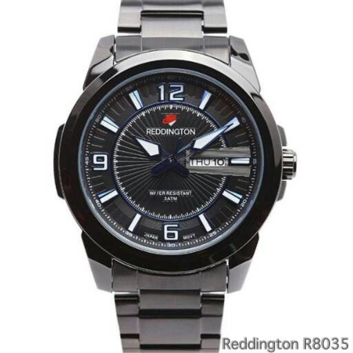 harga Jam tangan pria stainless strap reddington r8035 black blue Tokopedia.com