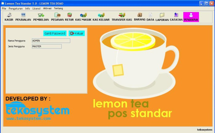 Foto Produk Lemon Tea Pos Standar Full dari tekosystem