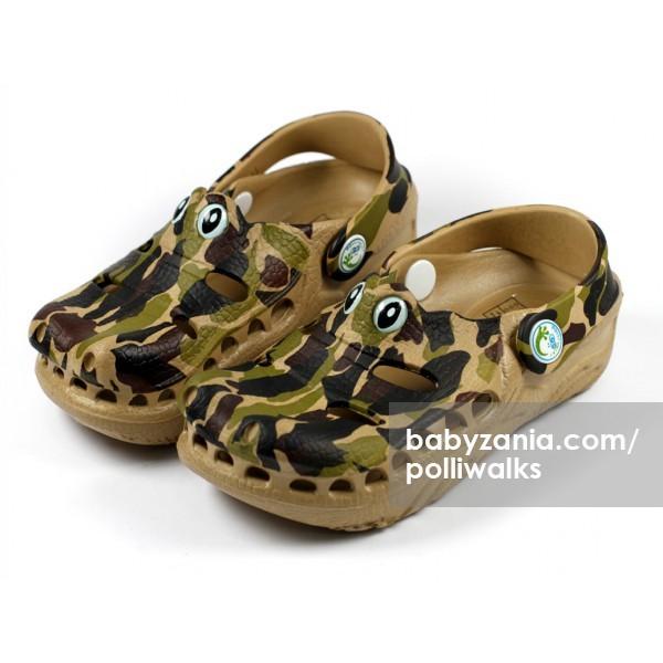 harga Polliwalks sandal with clogs - gator camo Tokopedia.com