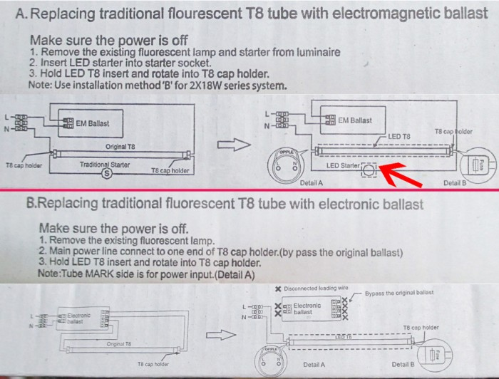 Jual LED TL Opple T8 18 Watt (cahaya Putih) 220v pengganti NEONTL - Wiring Lampu Tl Led on