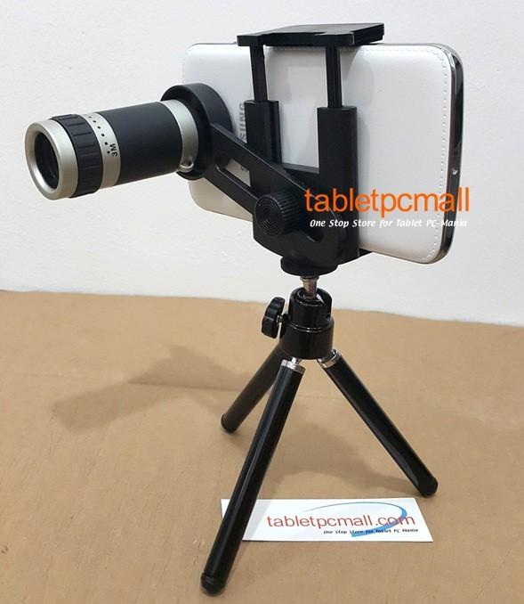 Mini Tripod + TELE ZOOM 8x UNIVERSAL LENSA for Smartphone