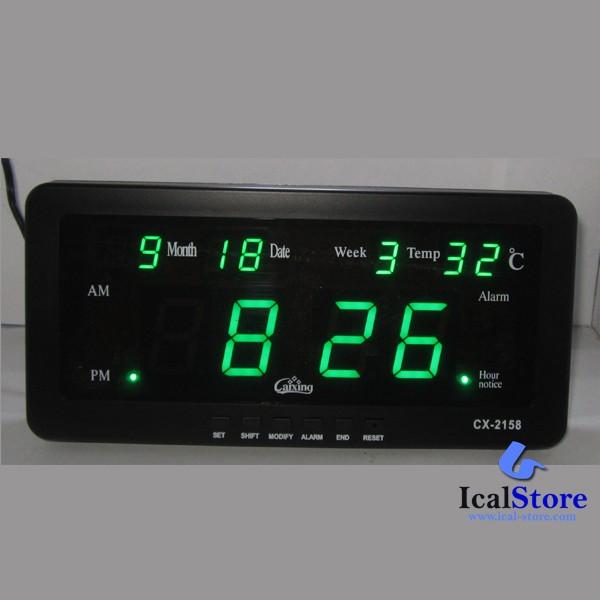 harga Jam dinding digital led tipe cx 2158 hijau Tokopedia.com
