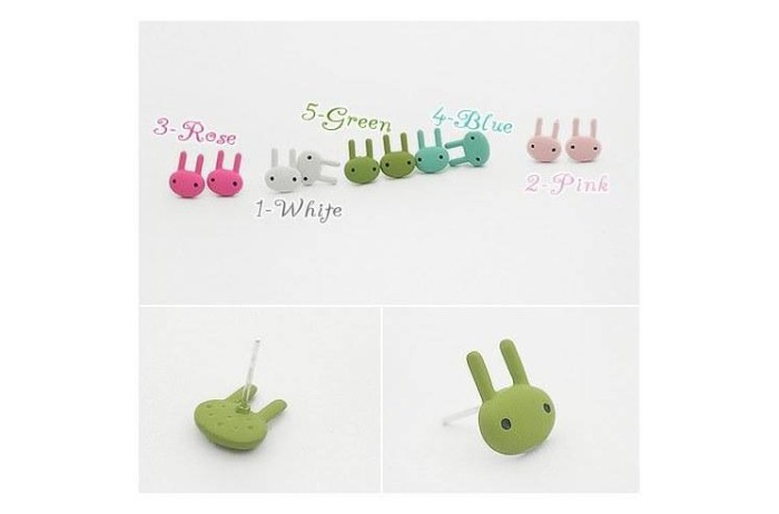 Foto Produk Anting cute rabbit kelinci cartoon colorfull dari cizzshop